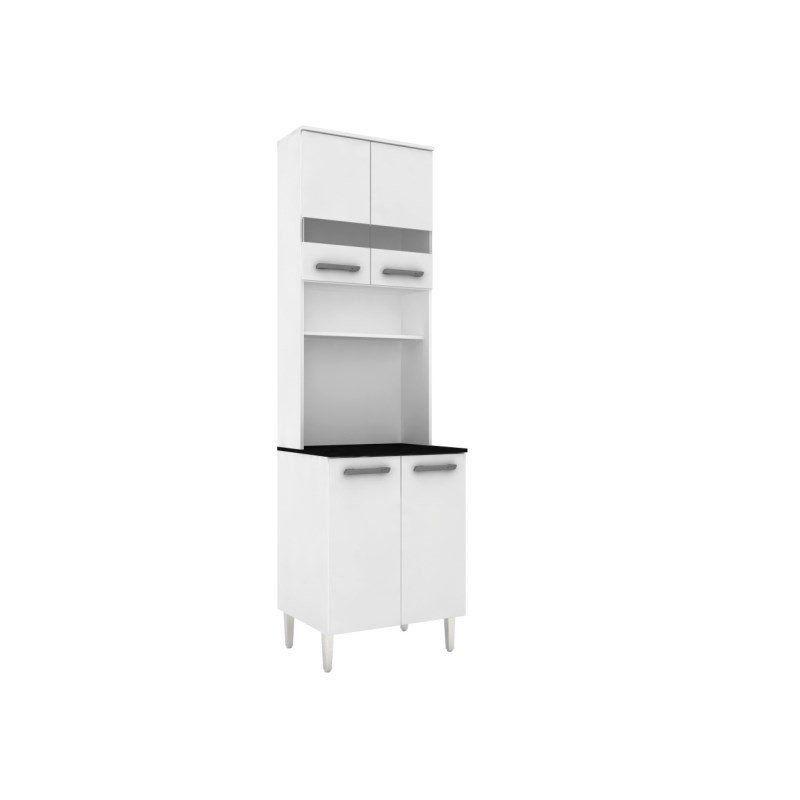 Cristaleira para Cozinha Bruna II 5623 com 62 cm - Poquema