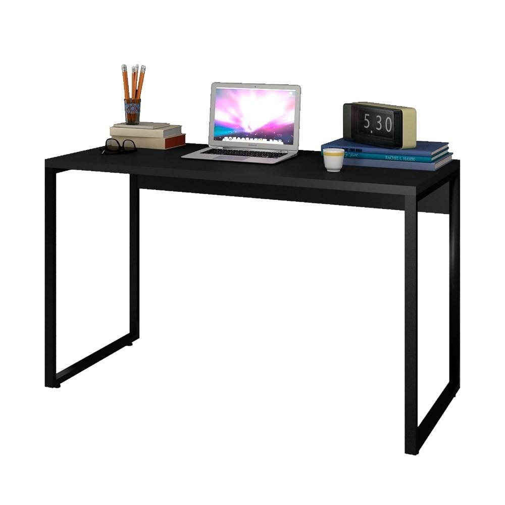 Escrivaninha Mesa de Escritório Studio Industrial 120 M18 Preto - Mpozenato