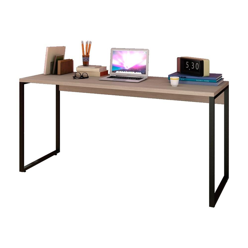 Escrivaninha Mesa de Escritório Studio Industrial 150 M18 Carvalho Bruma - Mpozenato