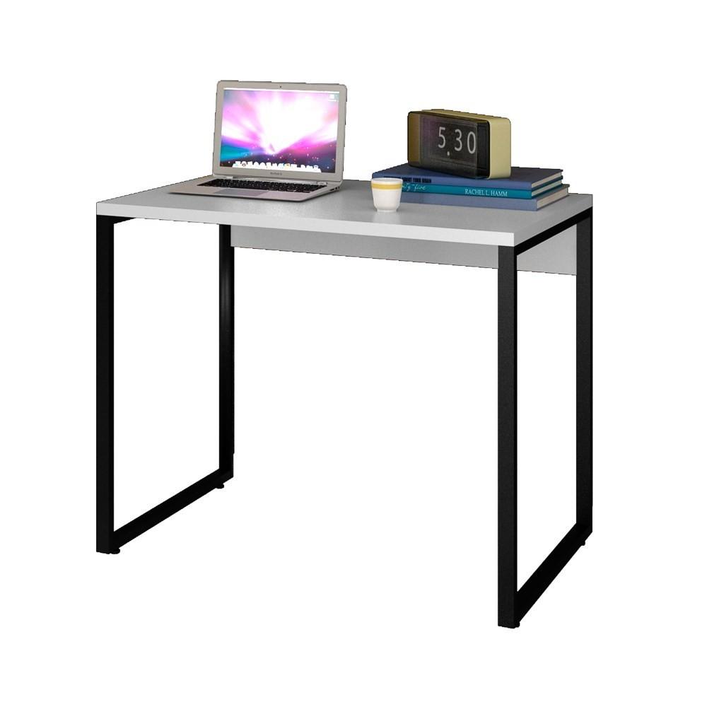 Escrivaninha Mesa de Escritório Studio Industrial 90 M18 Branco - Mpozenato