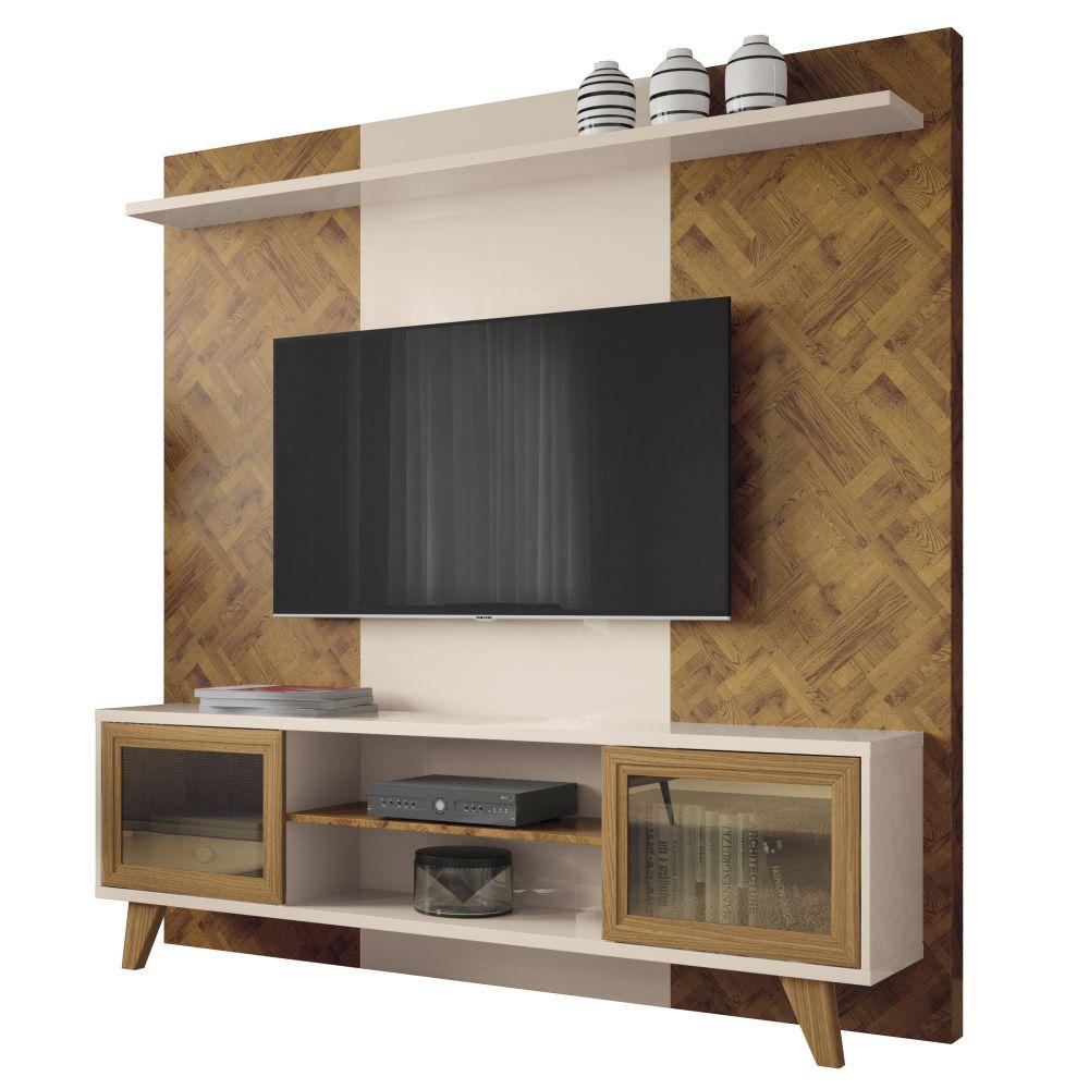 Estante Home Painel para TV até 60 Pol. Marchê 2 Portas - HB Móveis