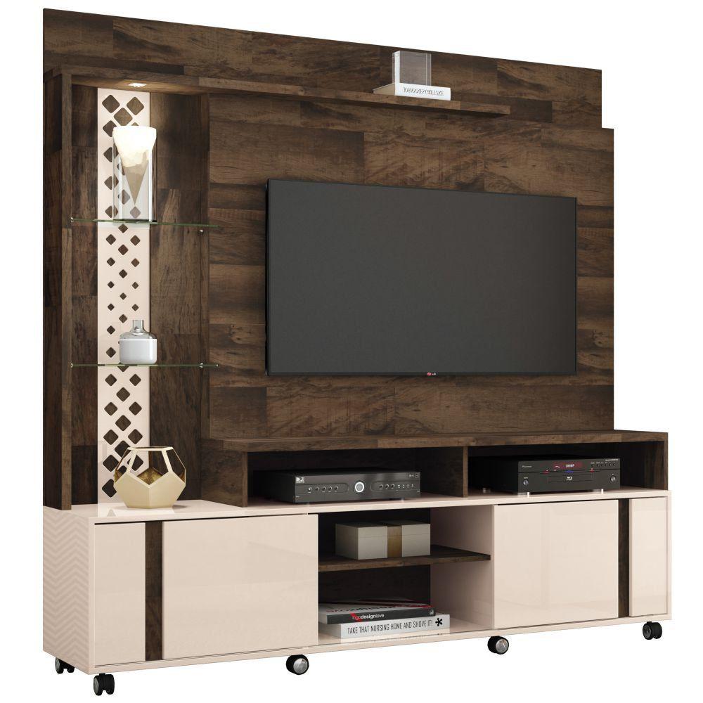 Estante Home Theater Para TV até 55 Pol. Vitral 2 Portas - HB Móveis