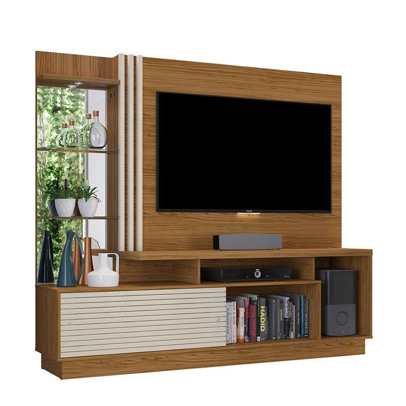 Estante Home Theater Para TV até 60 Pol. Frizz Plus 2 Portas - Madetec