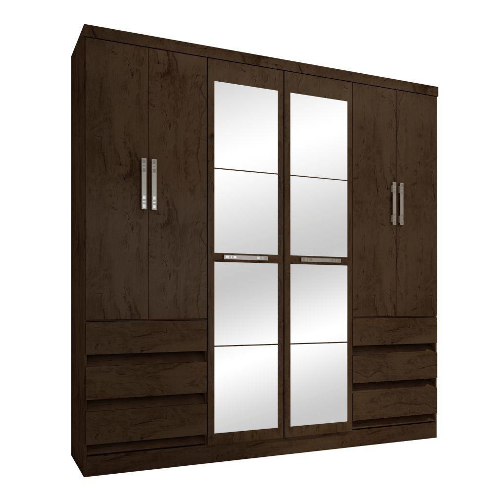 Guarda Roupa Casal 4177 6 Portas com Espelho - Araplac