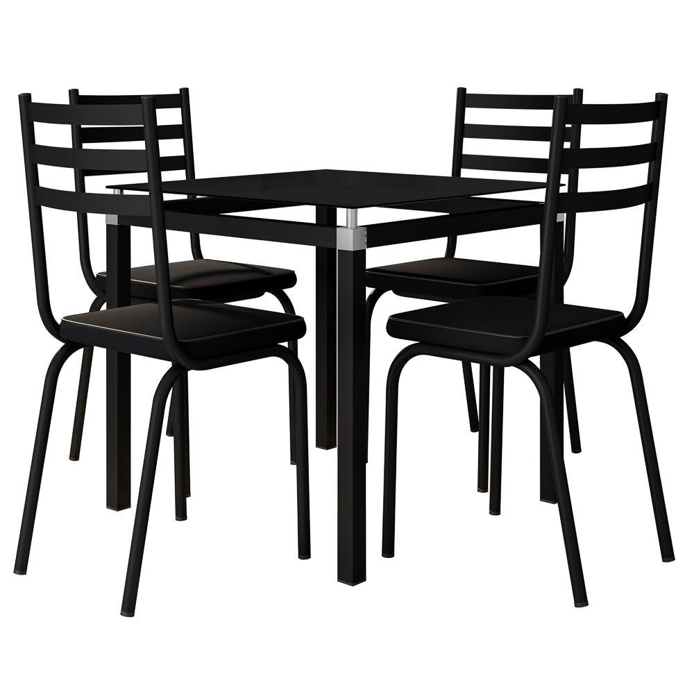 Jogo de Mesa Malva 107x75 cm e 4 Cadeiras 118 - Artefamol