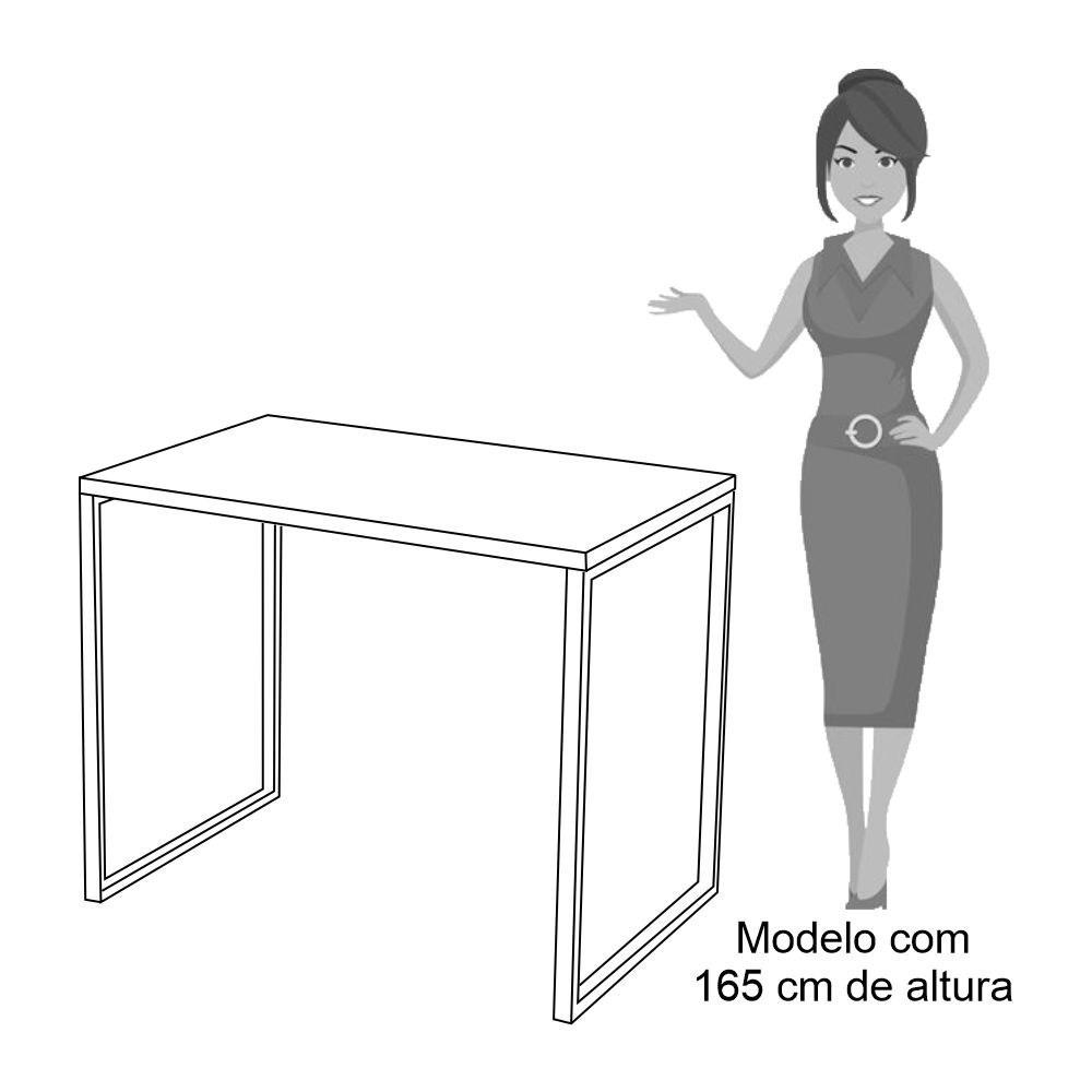 Kit 2 Escrivaninhas Mesas de Escritório Studio Industrial 90 M18 Carvalho Bruma - Mpozenato