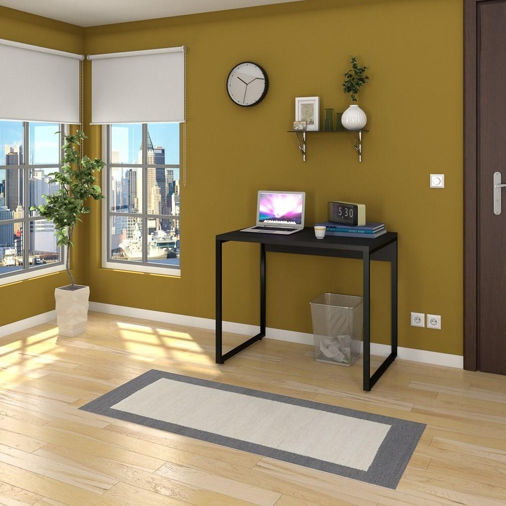 Kit 2 Escrivaninhas Mesas de Escritório Studio Industrial 90 M18 Preto - Mpozenato