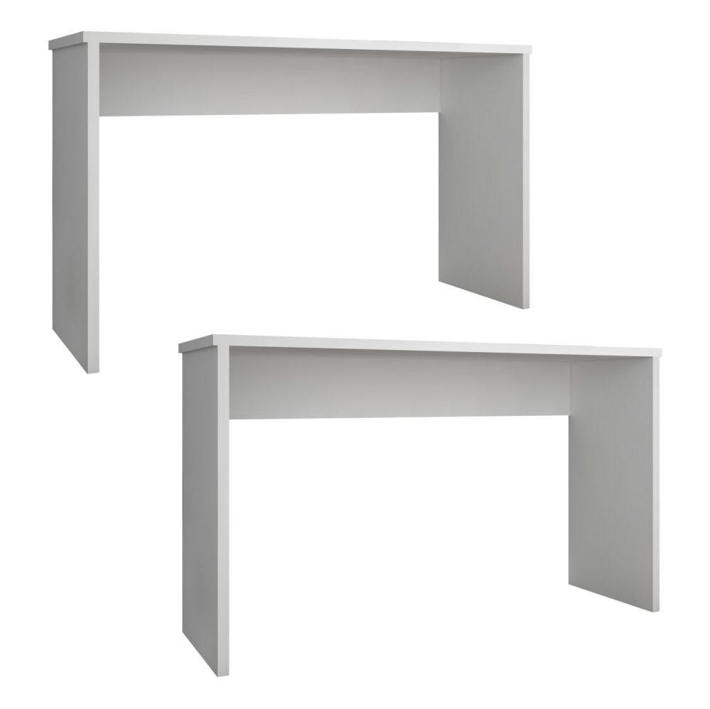 Kit 2 Mesas Para Computador Escrivaninha Gávea Branco - Móveis Leão