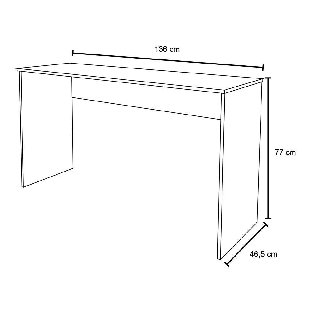 Kit 2 Mesas para Computador Notebook Escrivaninha 136cm Slim Preto - Mpozenato