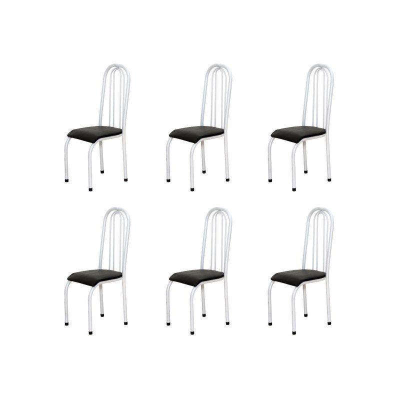 Kit 6 Cadeiras Altas Anatômica 123 Anatômica - Marcheli