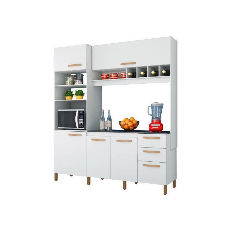 Kit Cozinha Compacta Cacau 5 Portas e 3 Gavetas - Albatroz