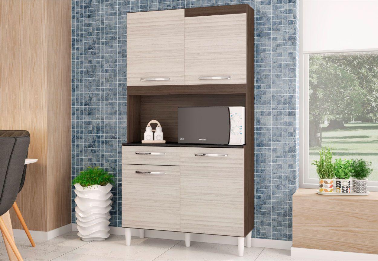 Kit Cozinha Compacta Carine 04 Portas - Poquema