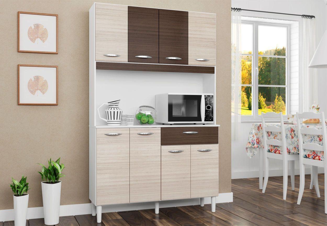 Kit Cozinha Compacta Cássia 08 Portas - Poquema