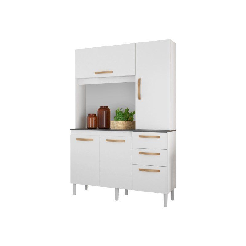 Kit Cozinha Compacta Noz 4 Portas e 3 Gavetas - Albatroz