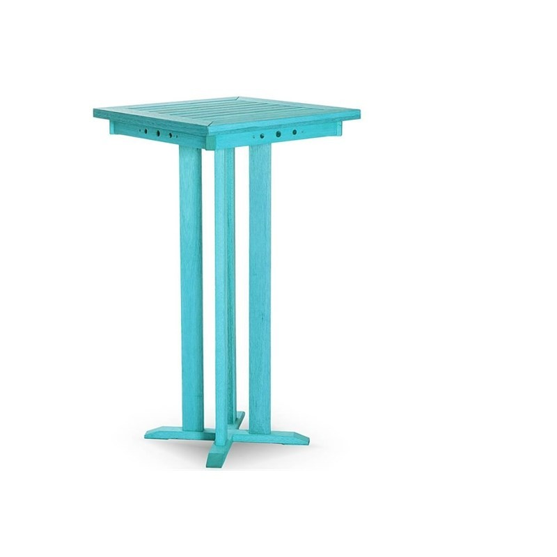 Mesa Alta Bar com 60,5 cm Stain Azul - Mão & Formão
