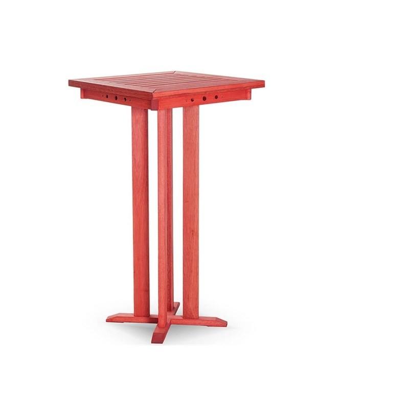 Mesa Alta Bar com 60,5 cm Stain Vermelho - Mão & Formão