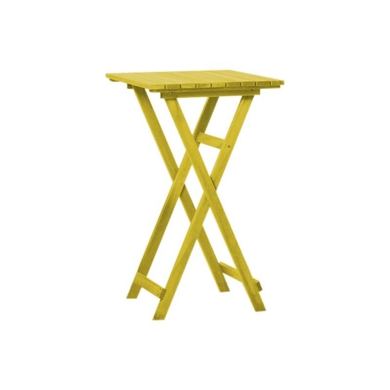 Mesa Alta Dobrável Bistrô Stain Amarelo - Mão & Formão