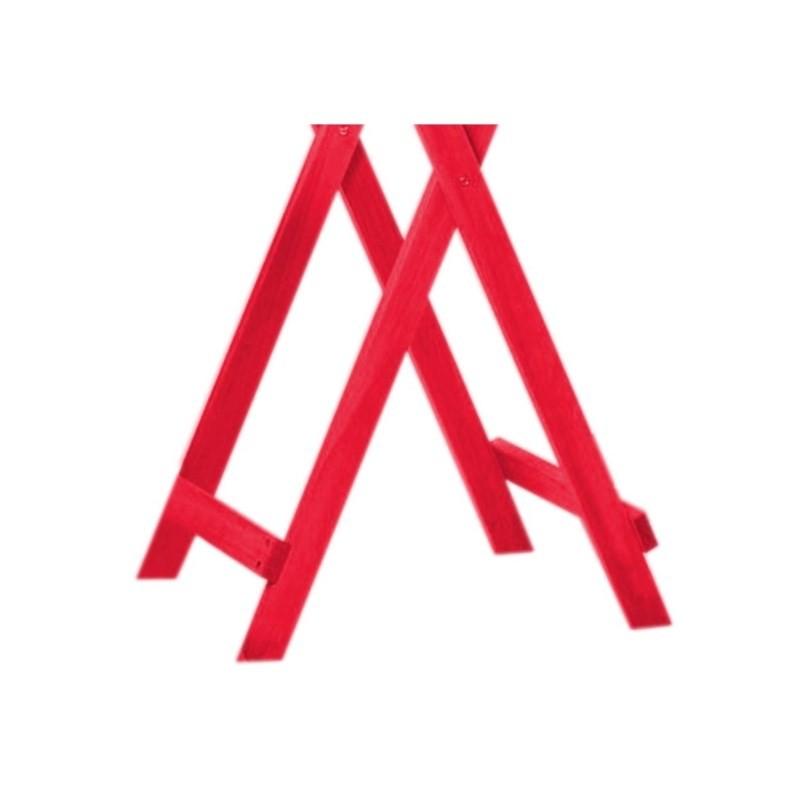 Mesa Alta Dobrável Bistrô Stain Vermelho - Mão & Formão