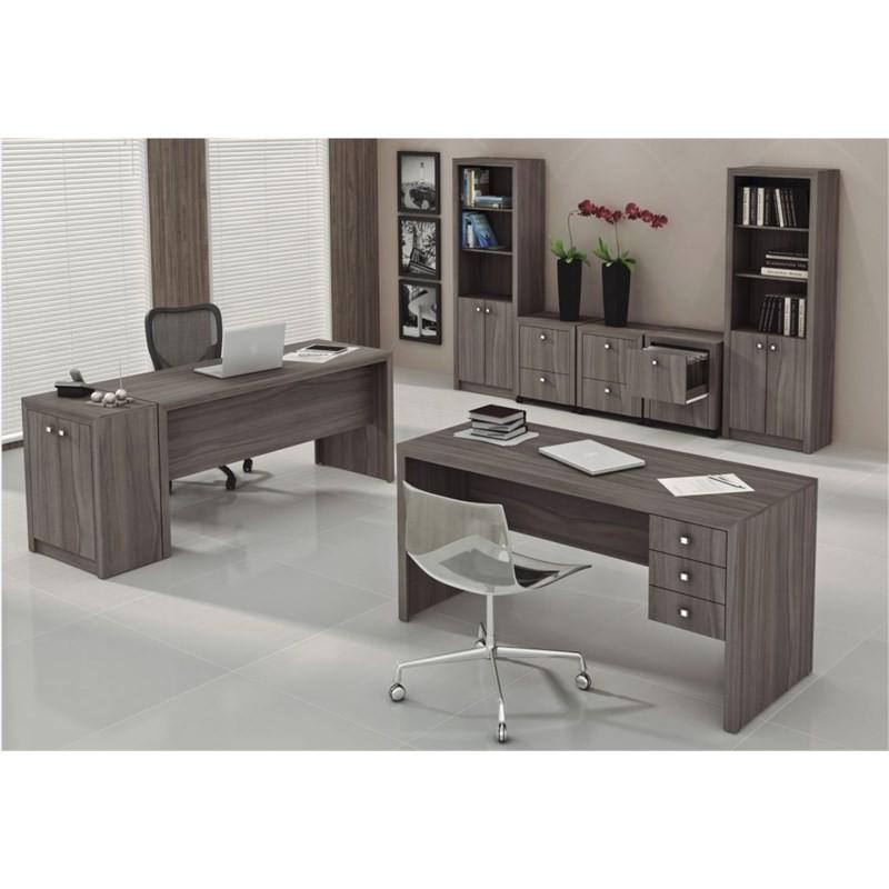Mesa com 03 Gavetas para Home Office ME4113 Carvalho - Tecno Mobili