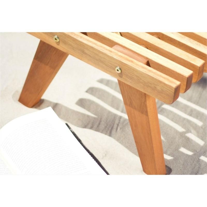 Mesa de Apoio para Espreguiçadeira Eclipse Jatobá - Mão e Formão