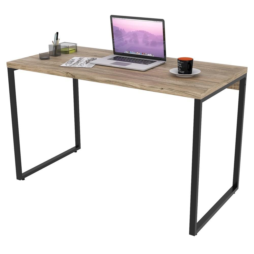 Mesa de Escritório Office 120cm Estilo Industrial Prisma C08 Carvalho - Mpozenato