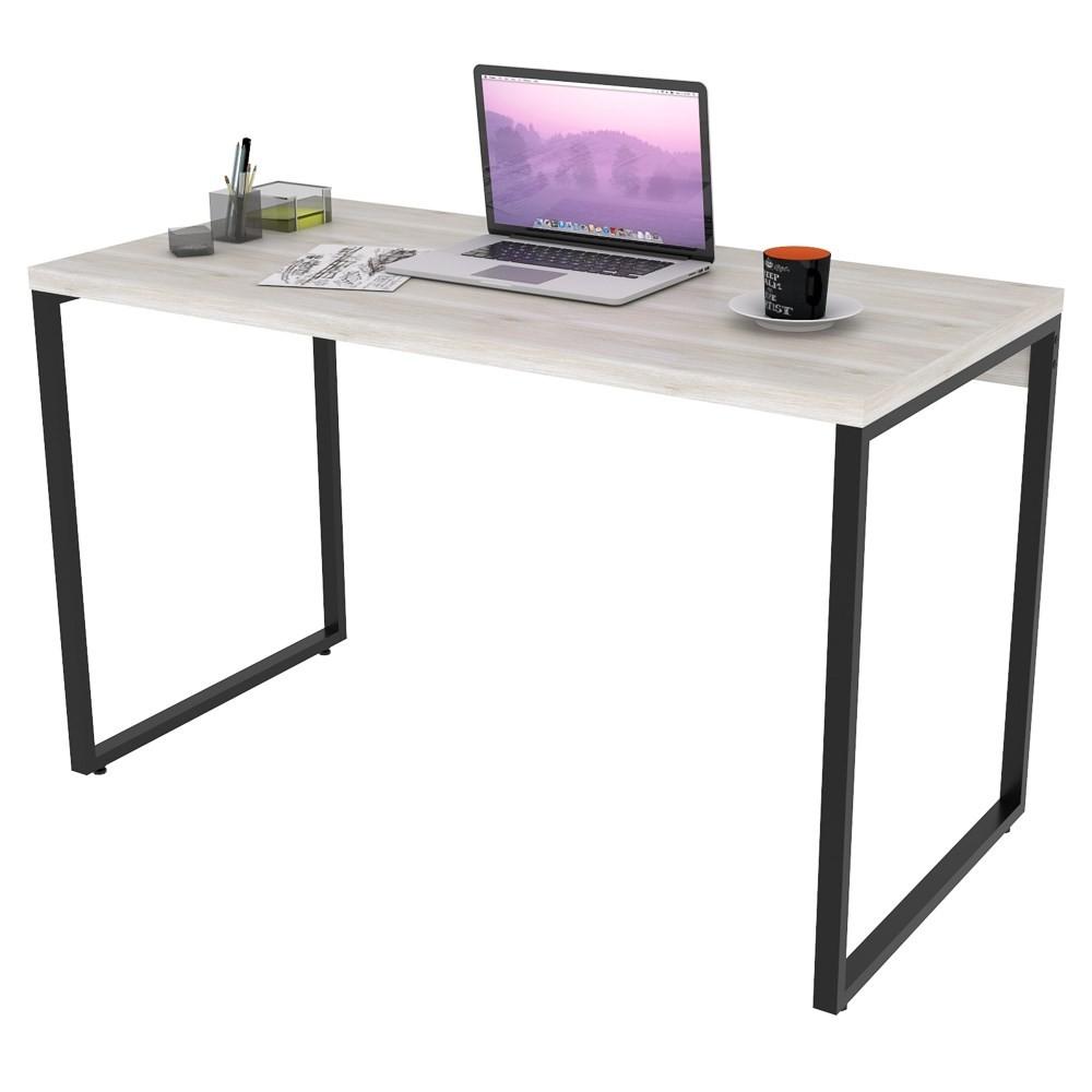 Mesa de Escritório Office 135cm Estilo Industrial Prisma C08 Snow - Mpozenato