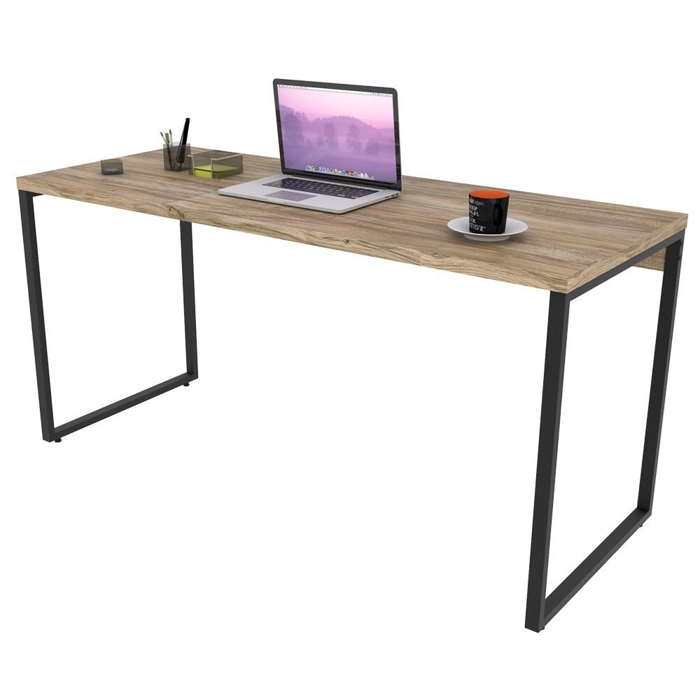 Mesa de Escritório Office 150cm Estilo Industrial Prisma C08 Carvalho - Mpozenato