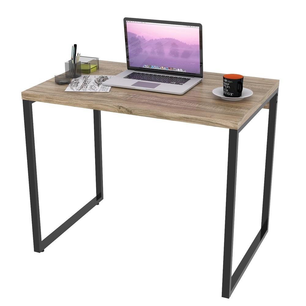 Mesa de Escritório Office 90cm Estilo Industrial Prisma C08 Carvalho - Mpozenato