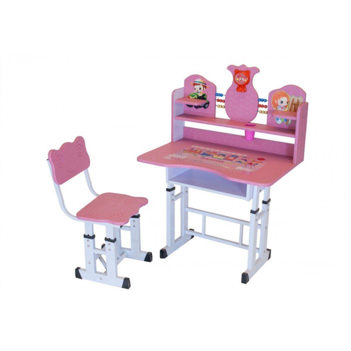 Mesa e Cadeira Infantil Charme com Regulagem de Altura -  Facthus