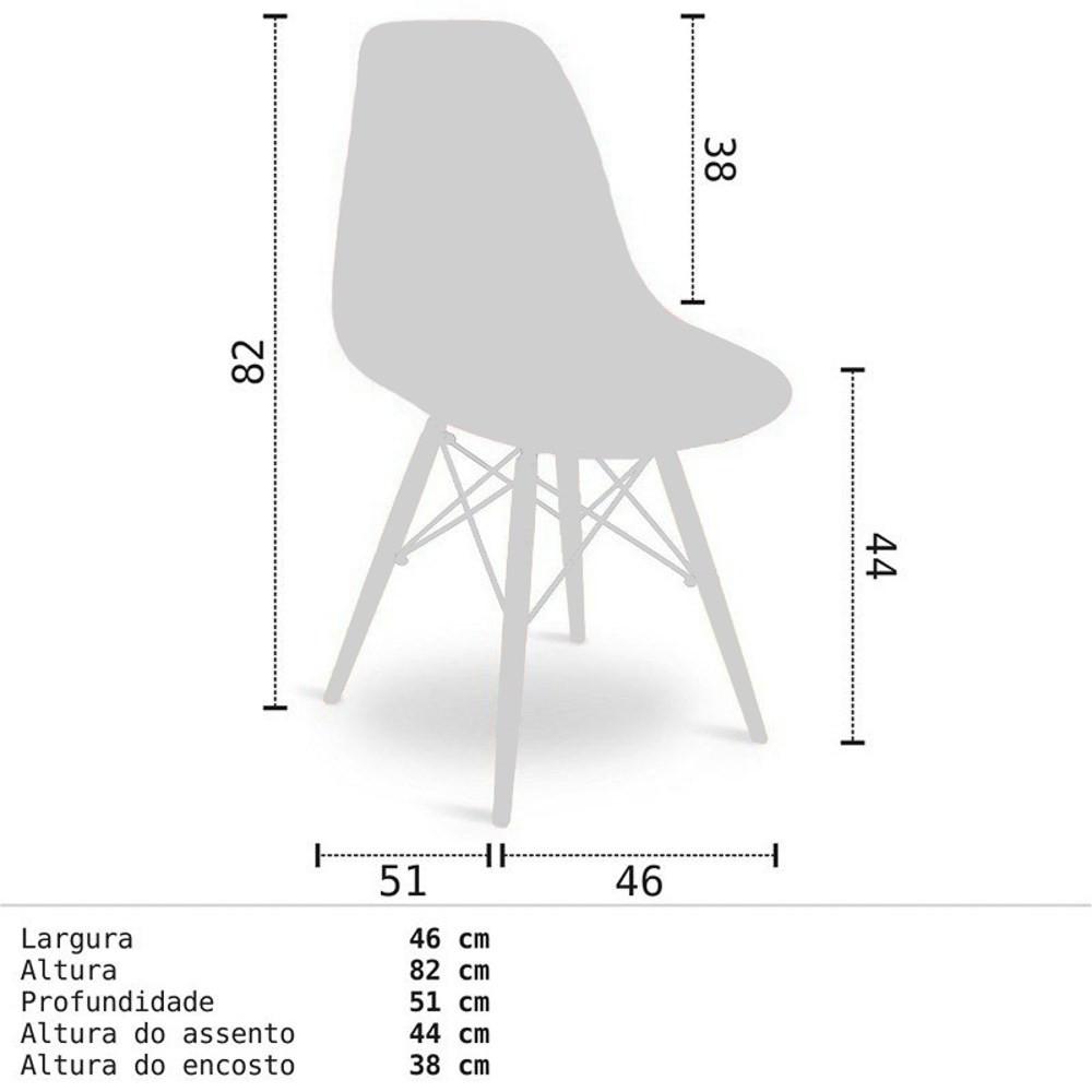 Mesa Escrivaninha Fit Industrial 90cm Castanho e Cadeira Charles Design Amarela - Mpozenato