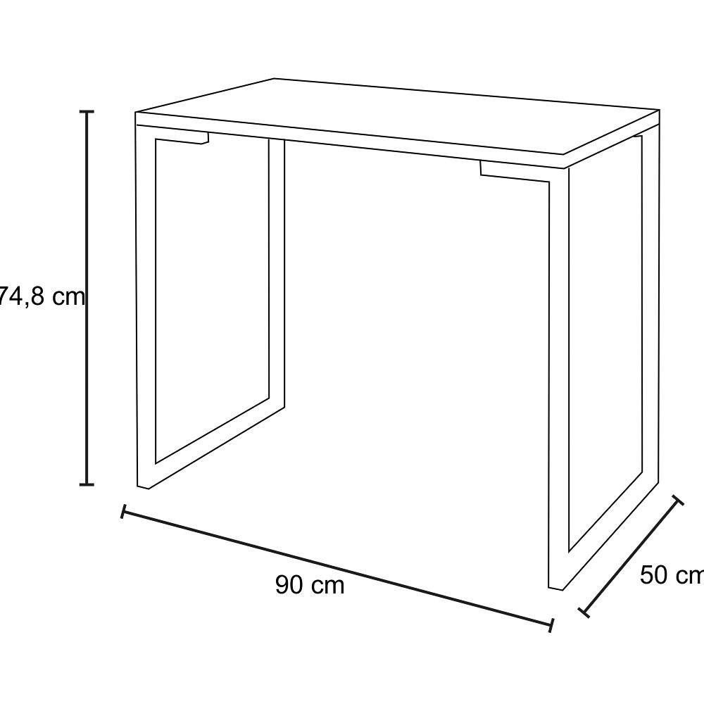 Mesa Escrivaninha Fit Industrial 90cm Castanho e Cadeira Charles Design FT1 Preta - Mpozenato