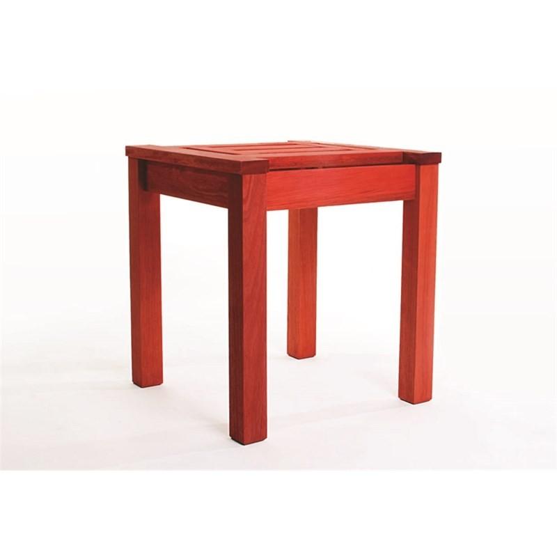 Mesa Lateral Echoes Stain Vermelho - Mão & Formão