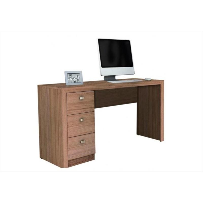 Mesa Para Computador 3 Gavetas ME4102 Amêndoa - Tecno Mobili