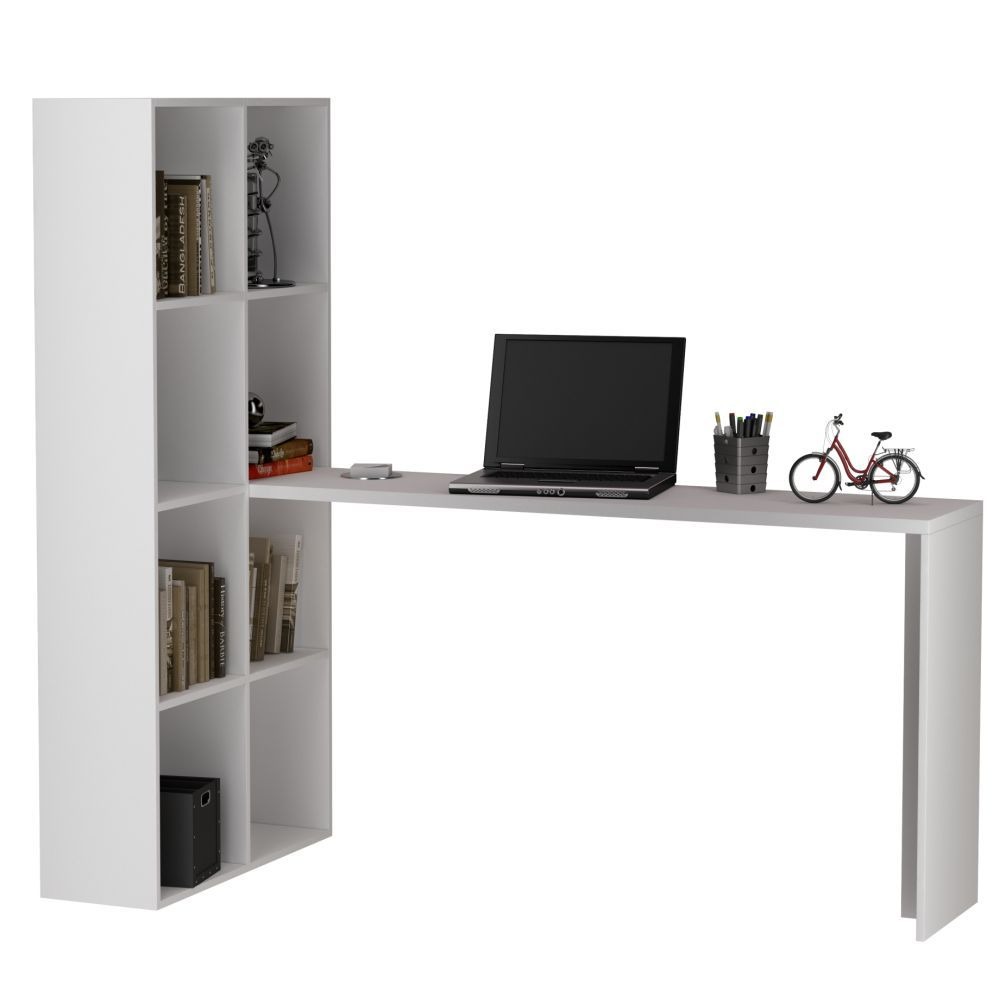 Mesa para Computador BE38 com Estante para Livros - BRV