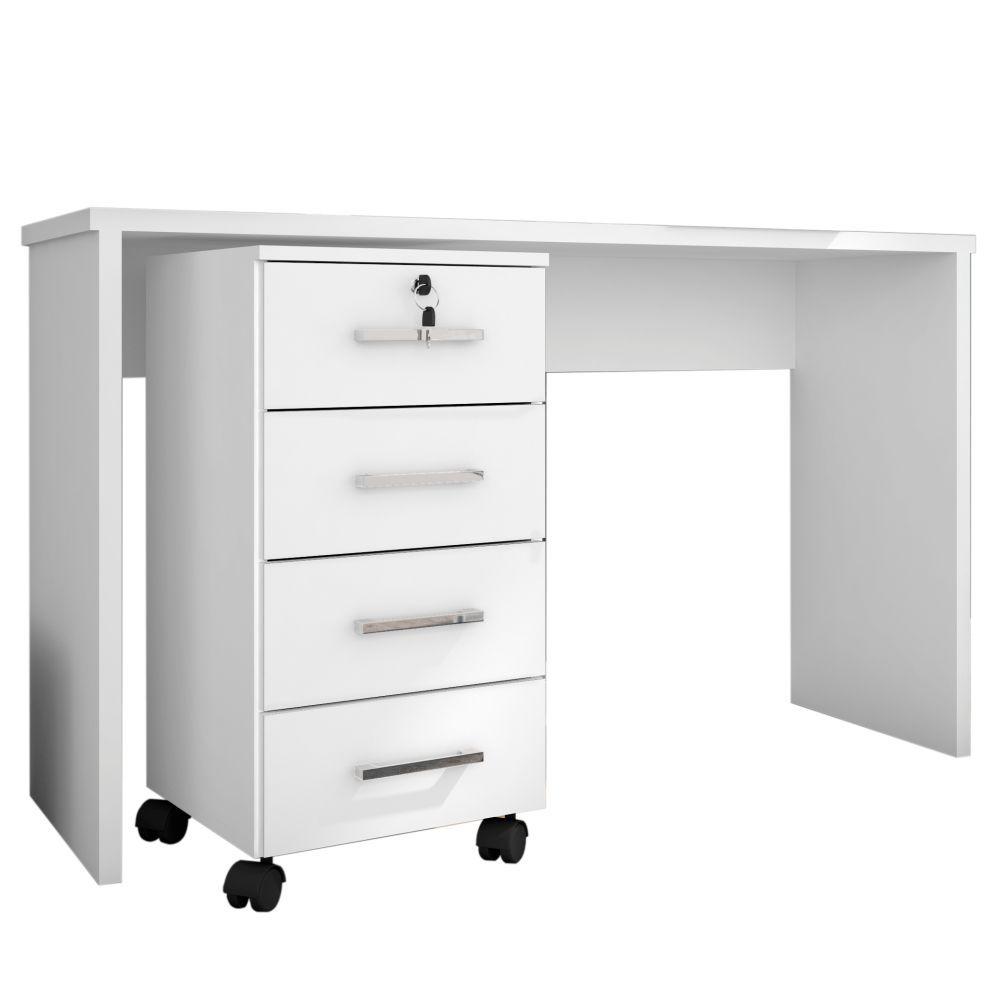 Mesa Para Computador Escrivaninha com Gaveteiro Gávea - Móveis Leão