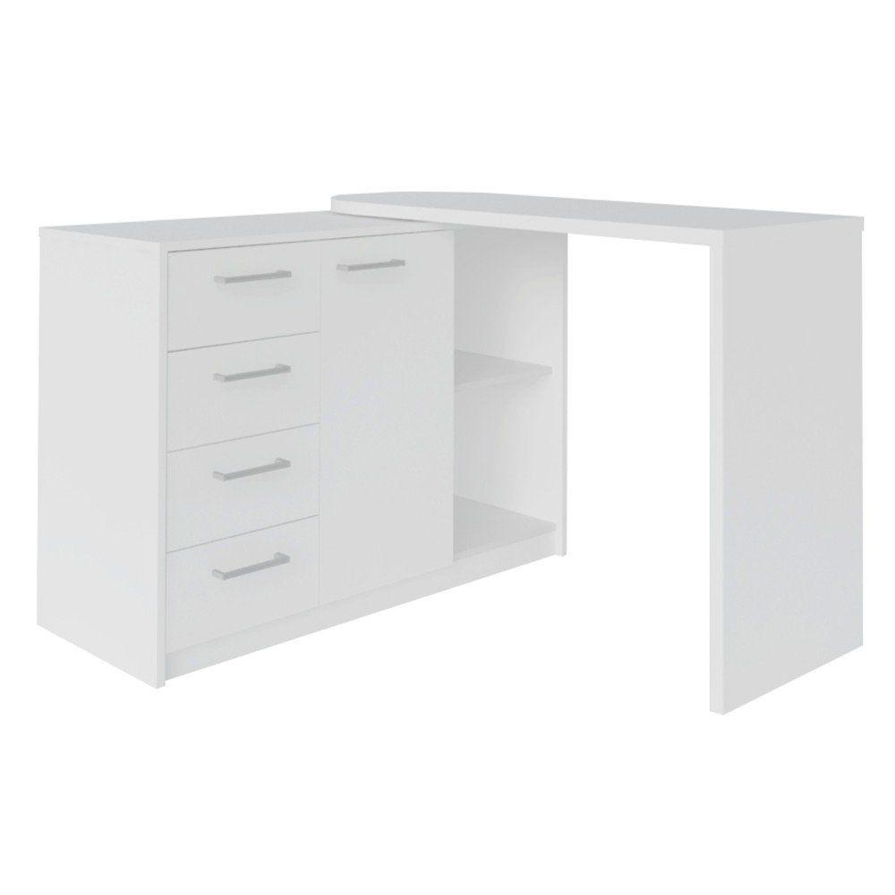 Mesa para Computador Escrivaninha Logan Web 4 Gavetas - Artany