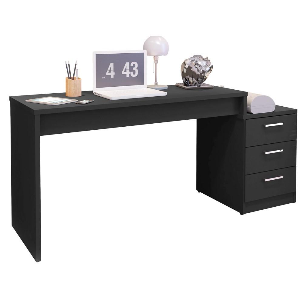 Mesa Para Computador Escrivaninha Versátil Petrópolis Preto - Móveis Leão