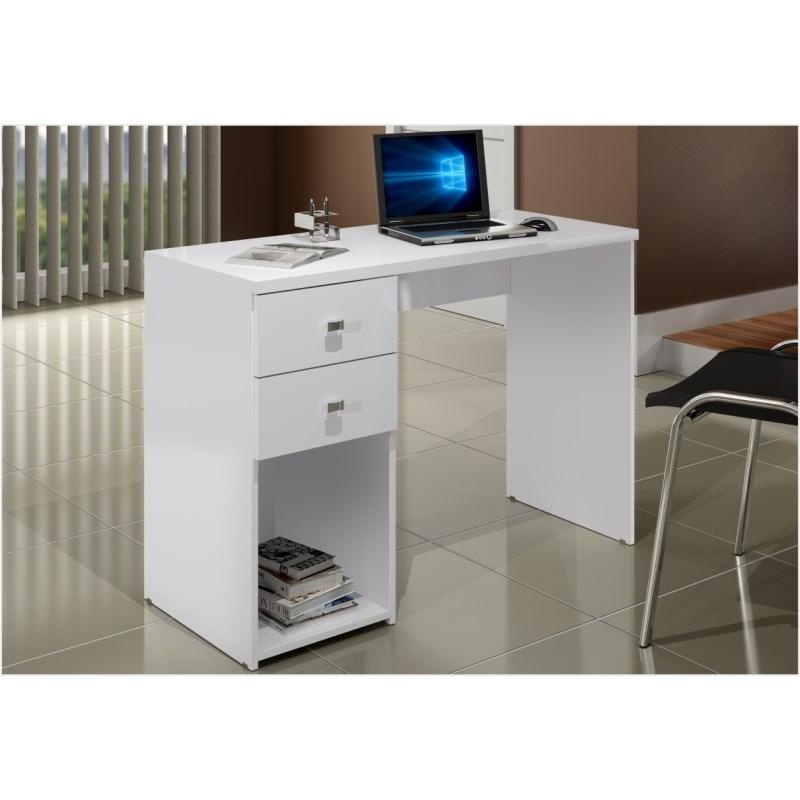 Mesa para Computador Notebook 02 Gavetas MSM 412 Branco - Móveis MB