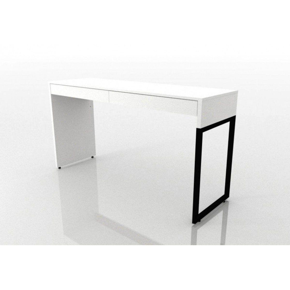 Mesa Para Escritório 2 Gavetas Desk - Fit Mobel