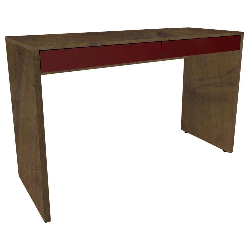 Mesa Para Escritório 2 Gavetas Linea - Fit Mobel