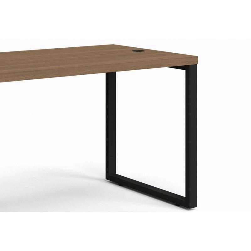 Mesa para Escritório Secretária Frame 120cm Carvalho Munique - Kappesberg