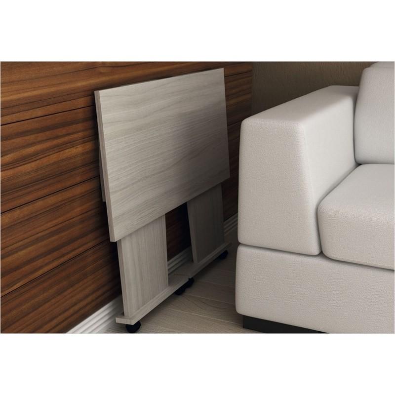 Mesa para Notebook com rodízios ME4117 Amendoa - Tecno Mobili
