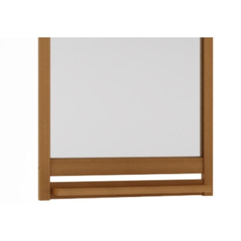 Moldura com Espelho Aquiles Jatobá - Mão & Formão