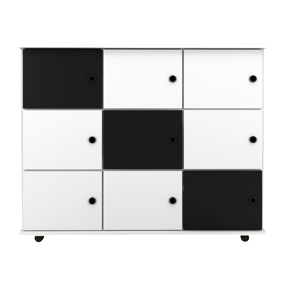 Nicho Multiuso Organizador com Rodízios Amã 9 Portas - Mpozenato