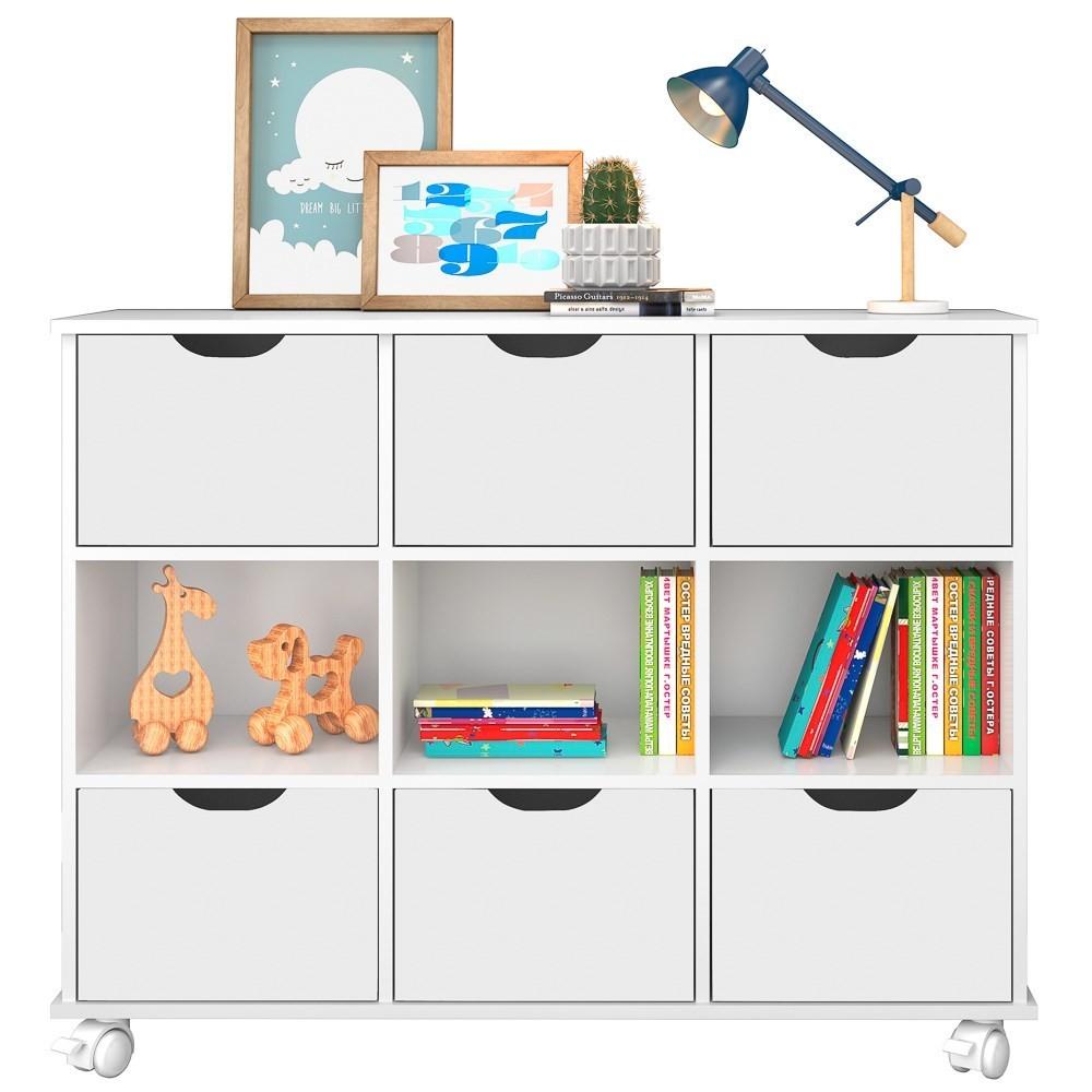 Nicho Organizador Multifuncional com Rodízios Toys Q01 6 Gavetas Branco - Mpozenato