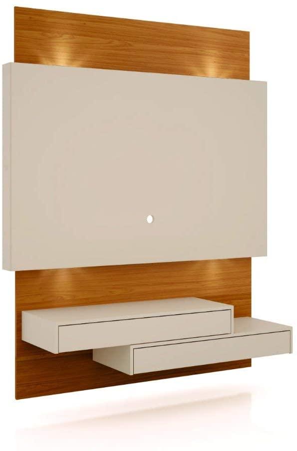 Painel Home Suspenso para TV com LED TB120L Off White/Freijó - Dalla Costa