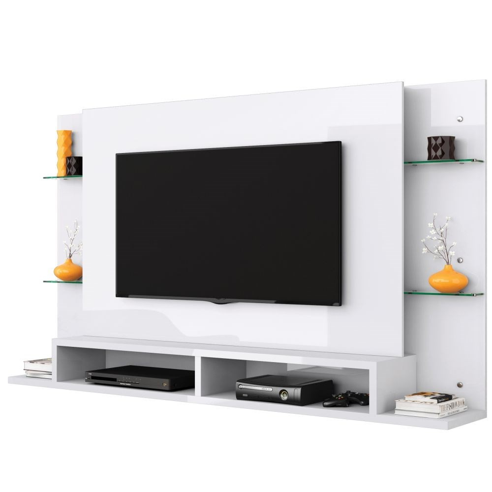 Painel para TV até 55 Polegadas Malbec Branco - Belaflex