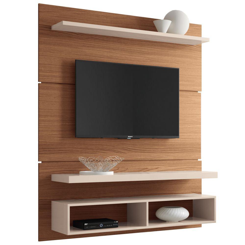 Painel para TV Life 1.3 Suspenso com Bancada - HB Moveis