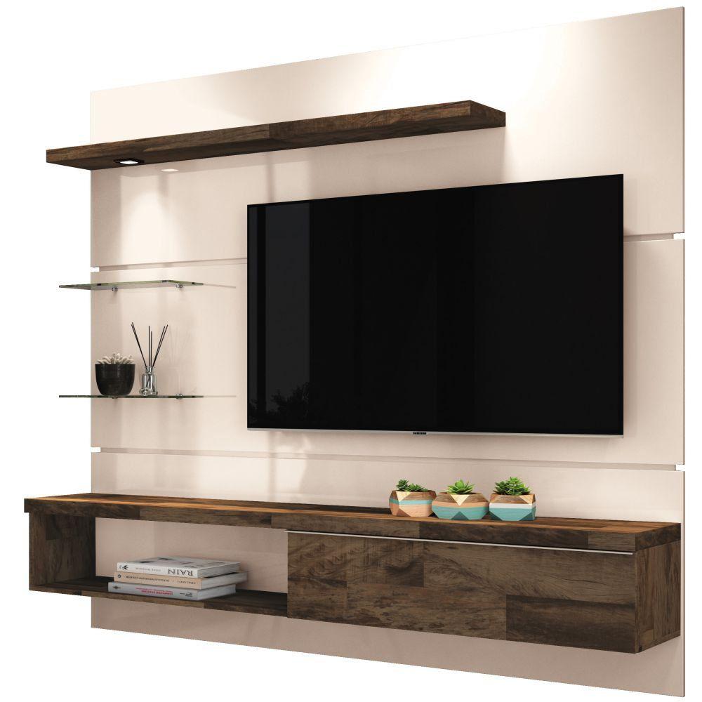Painel para TV Ores 1.8 Suspenso com Bancada - HB Móveis