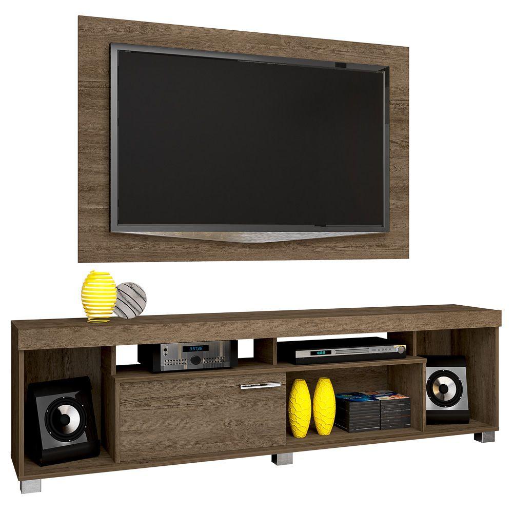 Painel Para TVs até 55 Pol. e Rack Bancada Tomaz - Madetec